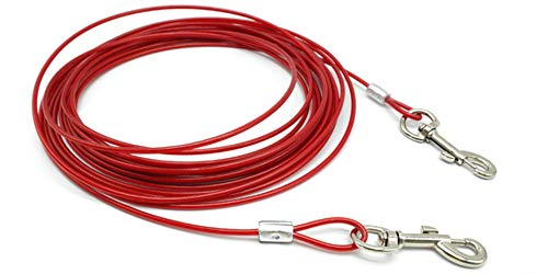 KIU Tie-Out Kabel Heavy Duty Honden Chain Leashes Outdoor Lead Riem voor Kleine Medium Grote Honden Camping Training