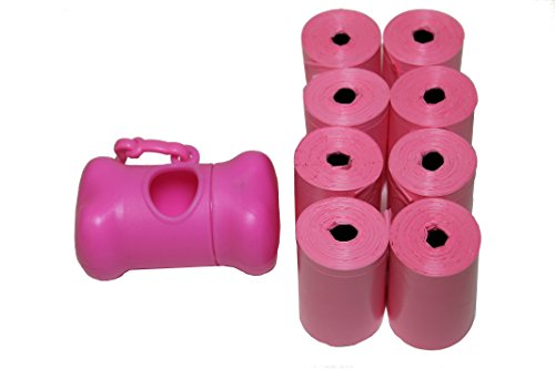 Originalpetbags 120 Easy Open & Strong Leak-Proof Poop Bags Dog Waste Bags 13.25 x 9 Made in USA with Dispenser.Bags are Easier to tie Than Standard 12 inch Bags, Pink