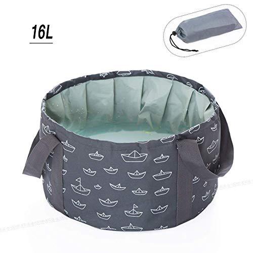 Draagbare Travel Water Bucket, Opvouwbare wastafel, Multifunctionele Diepe Vat voor Outdoor Camping Wandelen Wasvoet Bad-M