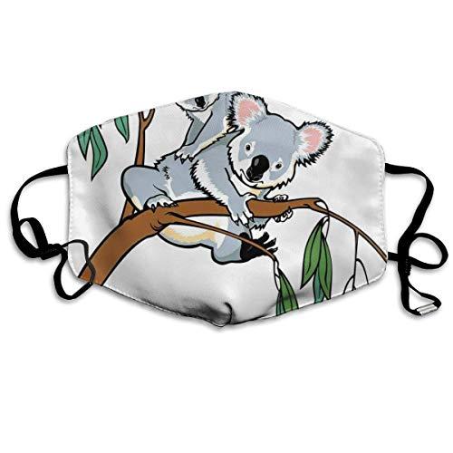 Bequeme Winddichte Maske, Mutter und Baby Koala Klettern über Eukalyptusbaum AST Wildlife Forest für Erwachsene