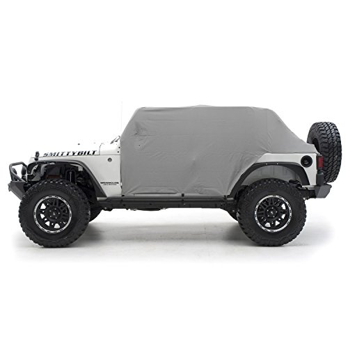 Smittybilt 1069 Gray Water-Resistant Cab Cover with Door Flap