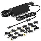 Outtag Cable de alimentación universal para ordenador portátil HP Dell Acer, Asus, Samsung, Toshiba, Lenovo Sony, Fujitsu Gateway, Ultrabook CC, salida de 15V 16V 18.5V 19V 19.5V 20V 90W