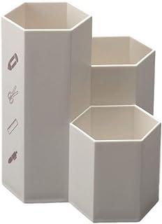 G-MODELL ペン立て ペンスタンド 収納ケース オフィス 小物入れ プラスチック (ホワイト)