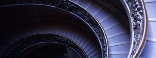 Posterazzi Spiral Staircase Vatican Museum Rome Italy Poster Print (30 x 12)
