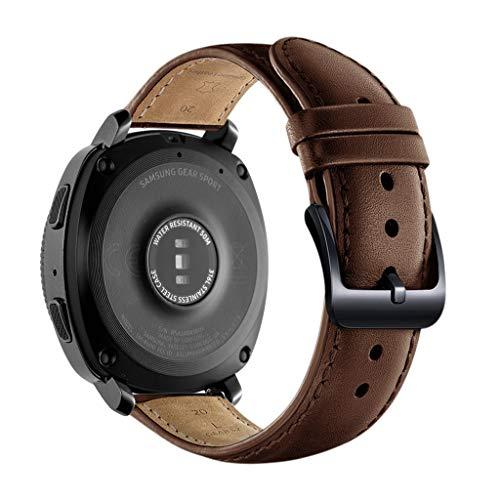 für Samsung Galaxy Watch Active Uhr Armbänd, Lederarmband Handgelenk Ersatz Band Edelstahl Verschluss für Samsung Galaxy Watch Active Smart Watch (Braun)
