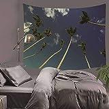 jtxqe Tapiz Decorativo Planeta asentado Multifunción Multifunción Planeta Puesta de Sol Árbol Foto Fondo Manta nórdica de Pared para el hogar 130x150cm