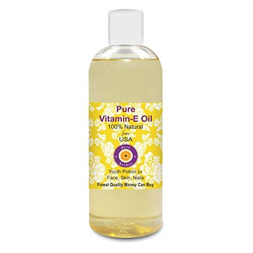 Deve Herbes Pure Vitamin E Oil 200ml 100% Natural Therapeutic Grade (6.76oz)