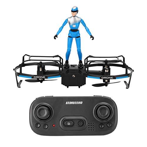 Emoshayoga RC Stunt Parapente Drone Motor sin escobillas Drone Principiantes y niños Modelo de Regalo Amantes del avión(Blue)