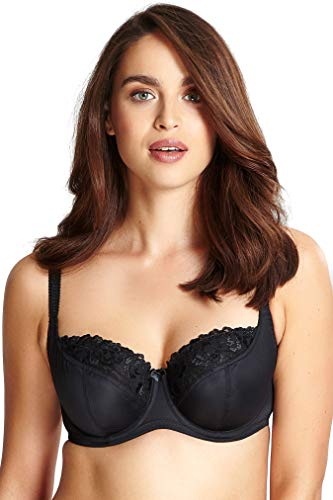 Panache Plus Size Women's Thea Underwired Balconnette Bra, Black, 36F UK