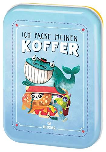 moses. Verlag GmbH 90352 Ich packe meinen Koffer | Der Spieleklassiker für Kinder ab 4 Jahren| Kinderbeschäftigung | Kartenset
