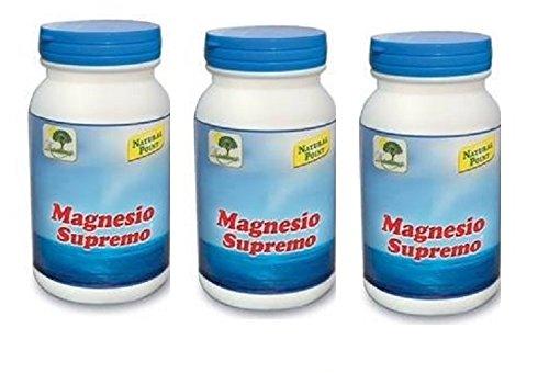 NATURAL POINT - MAGNESIO SUPREMO 3 CONFEZIONI DA 150 GR antistress naturale, stanchezza cronica, mal di testa, sistema nervoso -...