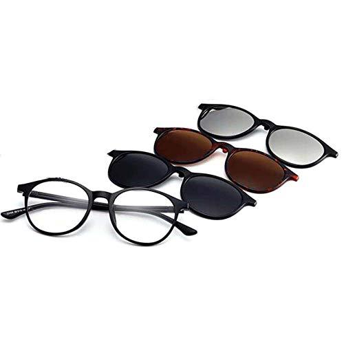 GEMSeven Gafas De Lectura 1pc + Paquete De 3 Clips Magnéticos Gafas De Sol Polarizadas Mujeres Hombres Gafas ópticas De Presbicia
