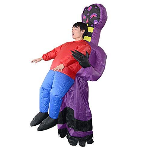 LINAG Aufblasbares Kostüm für Erwachsene Halloween Kostüm, Aufblasbare Geist Kleidung Lustige Cosplay Party Kostüme für Damen und Herren,A,OneSize