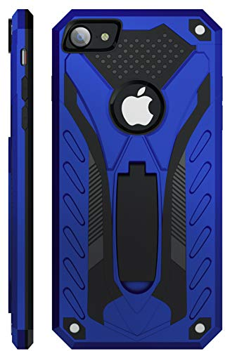 Kitoo Designed for iPhone 7 Case/Designed for iPhone 8 Case/Designed for iPhone SE 2020 Case with Kickstand, Military Grade 12ft. Drop Tested - Blue