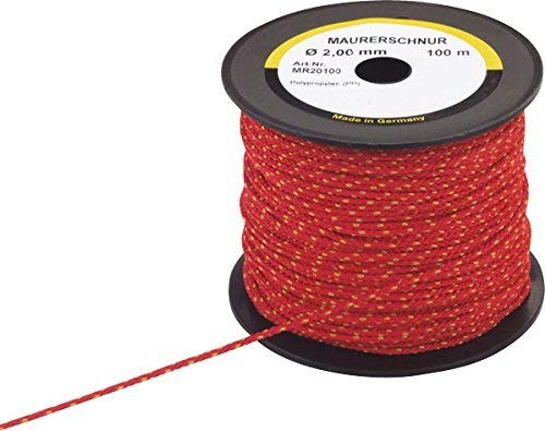 Triuso maurer color rojo 1,7 mm 50 m de polipropileno