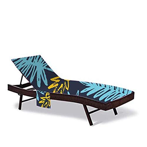 QCWN - Toallas de playa, funda para tumbona, textiles del hogar, tapete de baño de lino para exteriores, tumbona, silla de playa con bolsillo lateral, 83.5 x 29.5 pulgadas