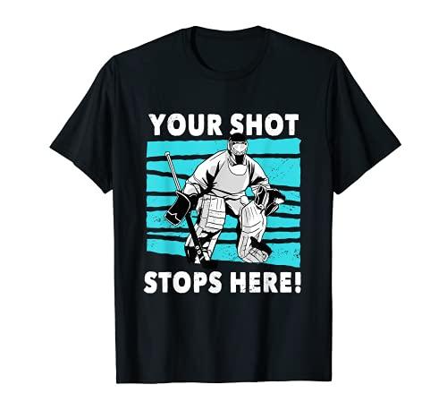 Ice Hockey Puck Stick Players Defencemen Wingers Goaltender T-Shirt
