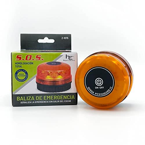 Luz Emergencia Coche homologado dgt Baliza de señalización homologada V16 / Señal de Luces de Emergencia para Coche, Moto, camión y Bicicleta Help Flash para vehiculos