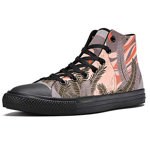 Anmarco Ganso entre las malas hierbas zapatillas de deporte de moda con cordones zapatos de lona casuales para la escuela para caminar para hombres, adolescentes y niños, color Multicolor, talla 45 EU