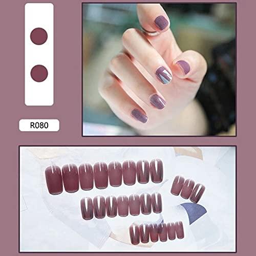 12 24pcs / Bolsa Nails Falsos Gel X Sistema de extensión Cubierta completa Esculpida Escultada Stiletto Coffin Falso Nails Arte Tips Herramienta de manicura