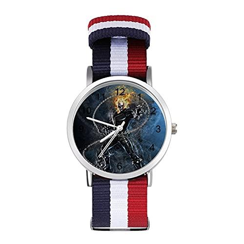 Los relojes Ghost Rider son impermeables, versátiles, informales, para estudiantes, hombres, mujeres, deportes, moda y temperamento simple anime dibujos animados