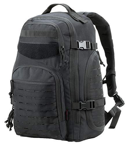 Military Tactical Backpack Bugout Bag Lazer Cut MOLLE Hiking Backpack Daypack EDC Pack 40L - black - Medium