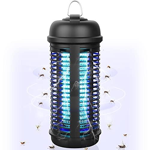 Inskondon Elektrischer Insektenvernichter 18W Innen Außen Gärten Insektenschutz,UV Insektenvernichter 80㎡ 365nm Insektenfalle Mückenlampe IPX4 Wasserdicht Fliegenfalle Mückenschutz