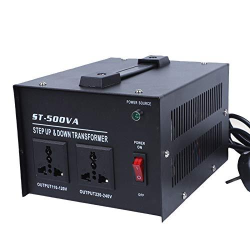EnweMahi Convertidor Voltaje Punto 220V A 110V,Transformador Potencia 110 V A 220 V,Transformador Elevador/Reductor Voltaje 1000 Vatios,Transformador Toroidal,500W