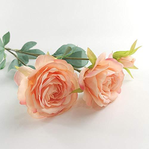 chuanglanja Flor Artificial Pequeña Coración La Mesa l Hogar Simulación Flores Falsas Camelia Coración Floral (5 Racimos Flores) -Champán
