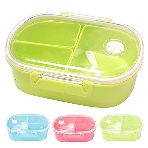 Caja de almuerzo rectangular con tapa de plástico para almacenamiento de alimentos, caja de almacenamiento, organizador de alimentos