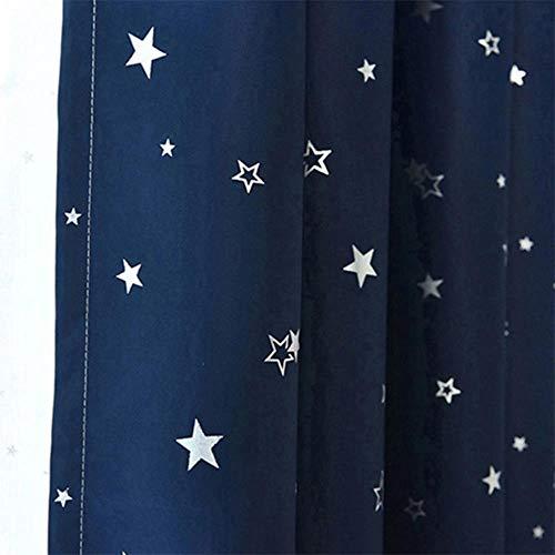 Shiny Stars Kinderen Doek Gordijnen Voor Kinderen Jongen Meisje Slaapkamer Woonkamer Blauw/Roze Verduisterende Cortinas Maatwerk Drape wp123# 30, Kleur 7 Doek, 1pc W100CM X H260CM