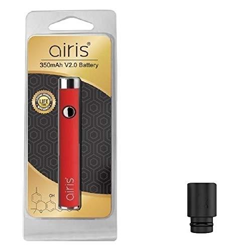 電子たばこ 510スレッド Airistech VERTEX 2.0 バッテリー リキッド用 エアリステック ヴァーテックス ヴェポライザー 510ドリップチップ付き (Red)