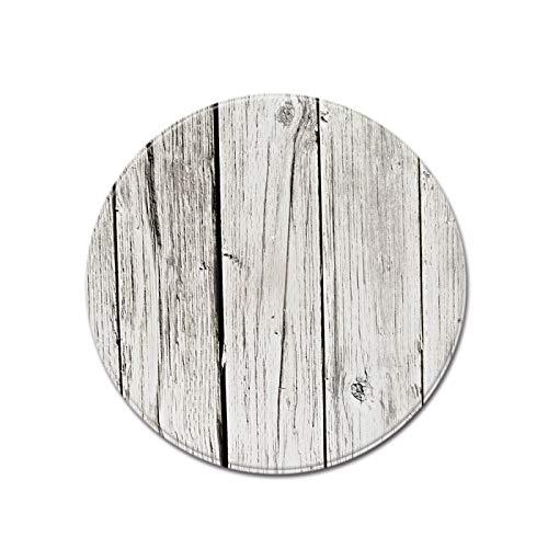 SSHHJ Alfombra Redonda De Grano De Madera Realista, Estilo Retro Que Se Puede Utilizar para Cojines De Asiento, Tapetes para Niños, Material De Nailon Lavable