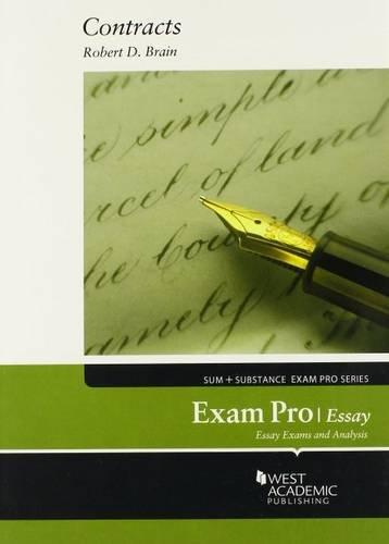 Brain's Exam Pro on Contracts, Essay (Exam Pro Series)