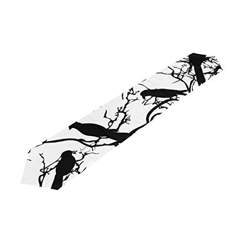 Bennigiry Arbre Oiseaux Chemin de Table Rectangle Polyester Chemin de Table Décoration de Table (33cmx177 cm), Polyester, Multicolore, 13x70(in)