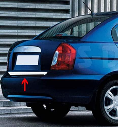 para Accent Era 2005-2011 - Cubierta de tapa trasera cromada para maletero de acero inoxidable
