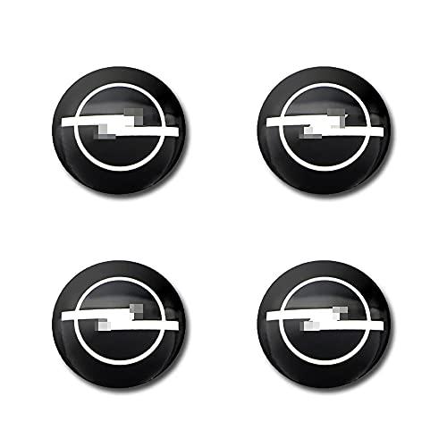 4 Stück 56mm Hochwertige Auto-Radnaben-Mittelkappen aus Aluminiumlegierung für Opel Astra H G J Abzeichen Mokka Zafira Corsa Vectra C D, Zubehör für Radverkleidungen