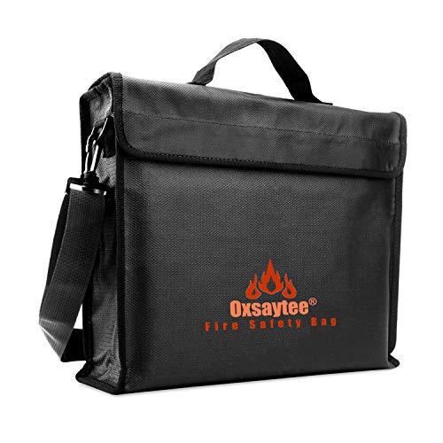 Bolsa de Documentos Ignífuga, Bolsa de Documentos Resistente al Fuego Oxsaytee Resistente al Fuego, Bolsa de Plata Ignífuga no Irritante para Dinero, Pasaporte, Joyas y Artículos de Valor