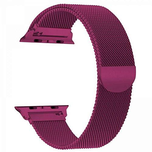 LANKOULI Watch 1/2/3/4/5 Armband Uhren Edelstahl Ersatz Sport Band (Pink, 42/44mm)