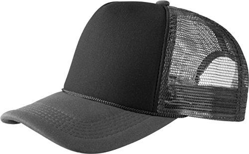 MSTRDS Herren Trucker high Profile Baseball Cap, Mehrfarbig (dk.grey/black 1023,5194), One size
