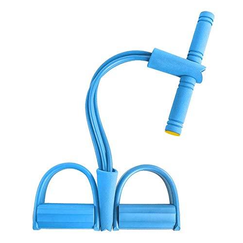 Sunshine smile Fitness Bauchtrainer Band, Widerstandstraining Beintrainer, Pedal Widerstand Band, Bodybuilding Expander, Multifunktions Spannseil, Sit-Up Gym Equipment (Blau)