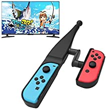 FunMax Fishing Rod Hand Grip for Nintendo Switch Joy-con Compatible with Legendary Fishing,Bass Pro Shops- The Strike