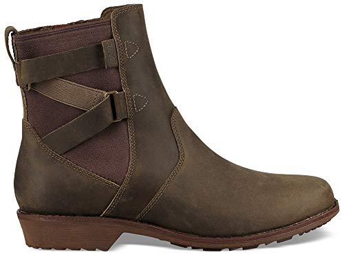 Teva Damen Ellery Ankle Waterproof Boots Stiefelette, Dark Olive, 40 EU