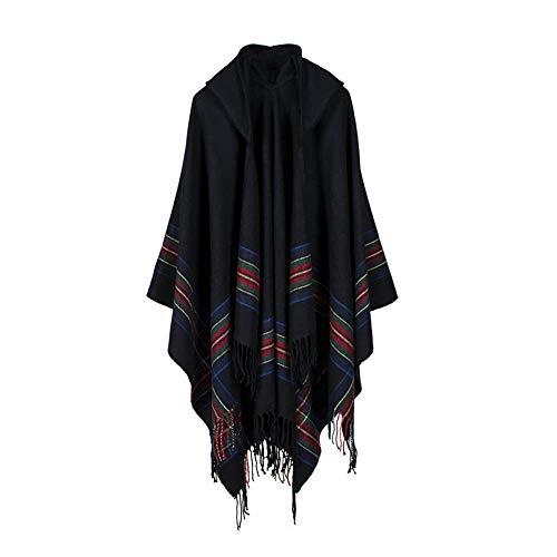 Alikeey Dames Pullover Winter gebreid kasjmier poncho capes sjaal cardigans mantel