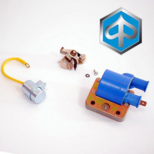 Kit condensador chinchetas platinadas bobina externa Piaggio Si/Ciao/Bravo