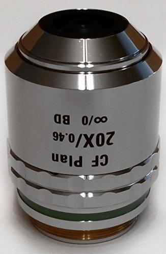 Nikon | CF Plan 20x/0.46 ∞/0 BD WD 3.1 (Brightfield/Darkfield) Microscope Objective Lens (MUM00202)