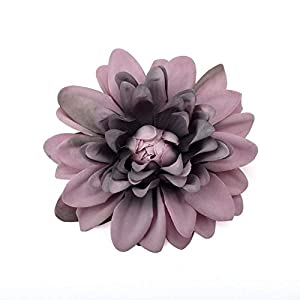 20pcs Dahlia Artificial Silk Flowers Heads for Wedding Decoration Rose DIY Wreath Gift Box Scrapbooking Craft Fake Flower Head