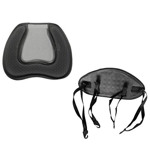 MagiDeal Bequem Weich und Gepolsterte Sitzkissen, Kanusitz + Komforte Rückenlehne Rückenpolste Rücken Sitzstütze für Kajak Kanu Fischerboot