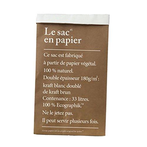 Sharplace Sac de Rangement en Papier Kraft Recyclable pour Cadeau en Fête 30x13x50cm