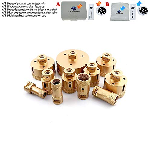 1pc Diamond Vacuum Brazed Drilling Core Bits M14 Connection Drill Bits Hole Saw Diamond Height 15MM Dry/wet drilling,43mm